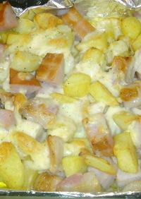 ハムとポテトのチーズ焼き