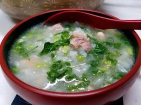 ☆鶏ガラスープで作る七草粥☆