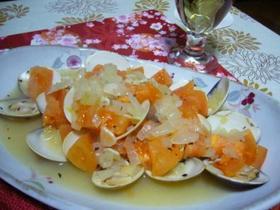 蛤のワイン蒸 with フレッシュトマト