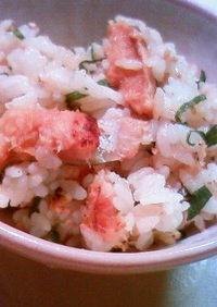 焼き穴子と大葉の混ぜご飯