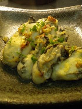牡蠣のガーリックバター焼き・小料理屋風