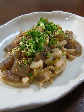 豚・蓮根・蒟蒻炒め