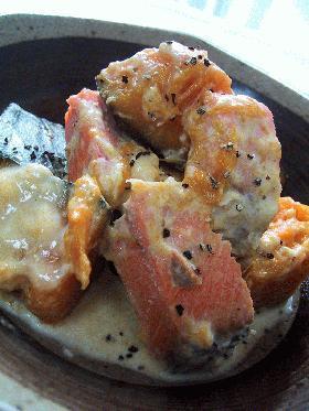 鮭と南瓜の豆乳煮。