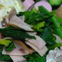 お弁当に✿ほうれん草と加工肉で簡単1品