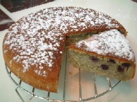 炊飯器でブルーベリーケーキ(用電鍋作藍苺Cake)