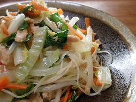 冬の季節の素麺チャンプル