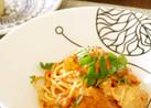鍋用の渡り蟹で♪絶品トマトクリームパスタ