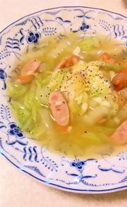 ざくざく白菜のとろけるチーズスープの写真