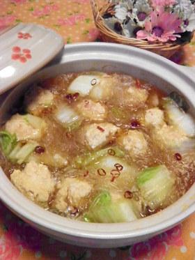 中華風 鶏団子鍋