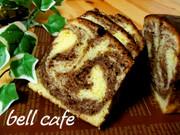 バレンタインに♡マーブルパウンドケーキの写真