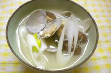 味噌汁(アサリと長葱&若芽)