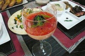 赤パプリカのムース~トマトのソースで~