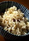 玄米ご飯_小豆とはと麦入り(炊飯器)