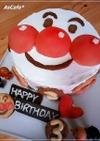 簡単!お誕生日立体アンパンマンケーキ♪