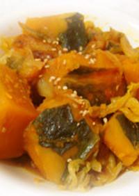 かぼちゃと白菜のこってり生姜煮