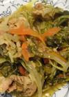 豚肉と水菜のカレー炒め