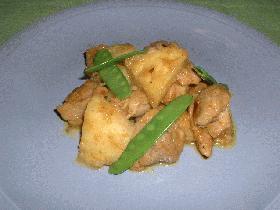 チキンとパイナップルのカレー風味