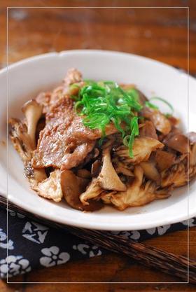 豚と舞茸の生姜焼き
