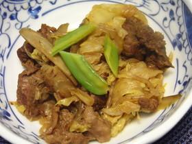 牛スジ肉のすき焼き風煮物
