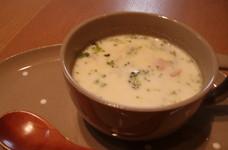 里いもとごぼうのトロトロあったかスープ