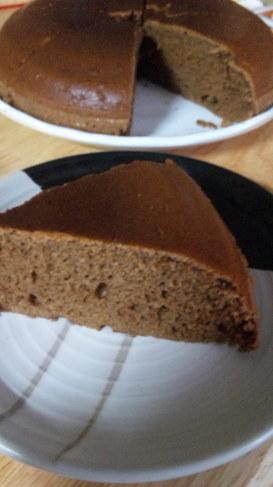 ホットケーキミックスで炊飯器チョコケーキ