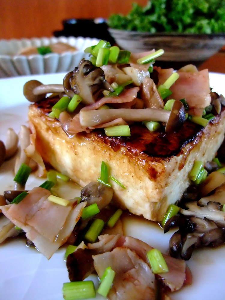【簡単】豆腐ステーキ*きのこバターソース