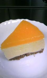 お豆腐入り♪ みかんのムースケーキの写真