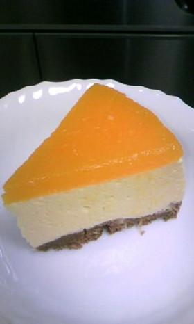 お豆腐入り♪ みかんのムースケーキ