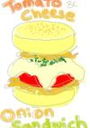 ブランチ!トマトとチーズのオニオンサンド