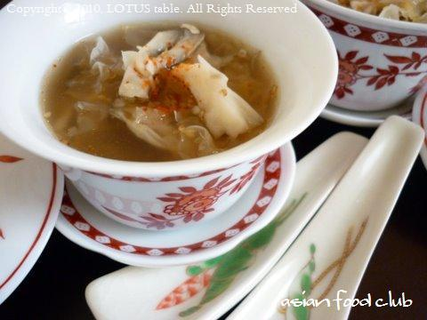 白キクラゲと舞茸のスープ