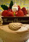 クリスマスに♡チョコチップクリームケーキ