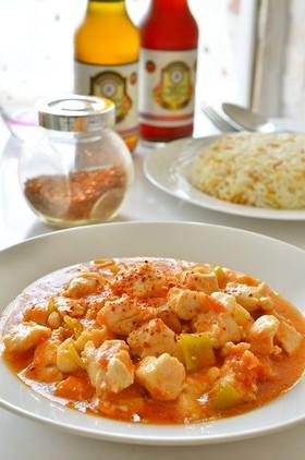 トルコ家庭料理☆鶏肉のニンニク・トマト煮