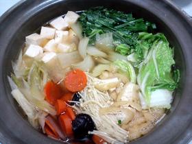 大人の味♪スープも手作り 和風鍋