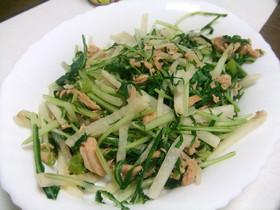 辛味大根と水菜の炒め物