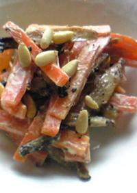 牛蒡と人参のピリ辛おつまみサラダ