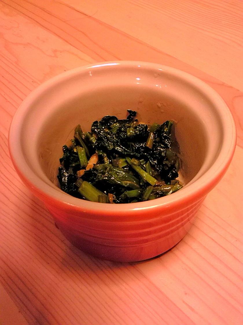 かぶの葉の中華味炒め