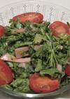 春菊とハムのカレーヨーグルト和えサラダ
