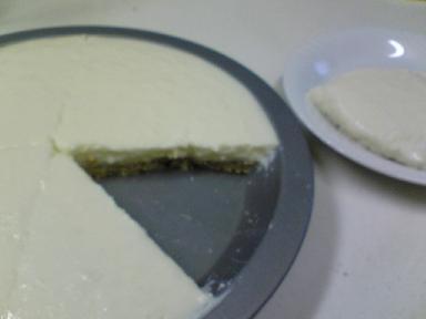 なんちゃってレアチーズケーキ アップル味