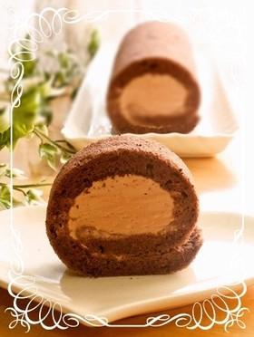 しっとり♪ふわふわチョコロールケーキ