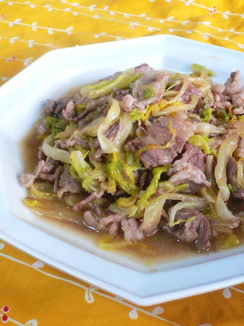 我が家の中華✿白菜と牛肉の炒め