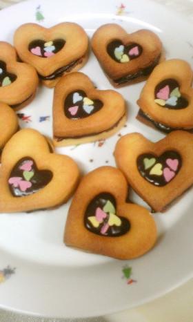 バレンタイン♡生チョコサンドクッキー