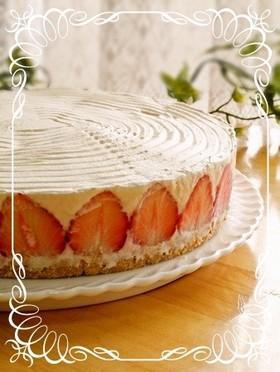 濃厚レアチーズケーキ(苺バージョン)