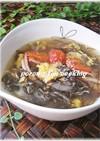 中華風✿ふんわり卵のもずくスープ