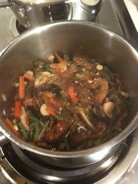 山菜ミックスと春雨の煮物