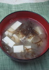 いつもの豆腐ともずくの味噌汁