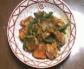 かぼちゃと揚げ鶏の煮物