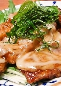豚肉の✿濃厚味噌チーズ焼き✿