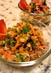トルコの家庭料理☆緑レンズ豆のサラダ