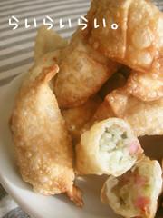 パリパリ!餃子の皮でポテトパイの写真