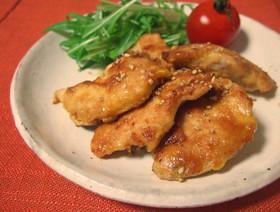 やわらかい★鶏むね肉のピカタ★蜂蜜生姜味